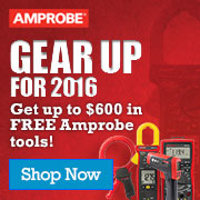 Gear up for 2016 with up to $600 in Amprobe Tools