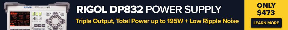 Rigol DP832 triple output 195W power supply