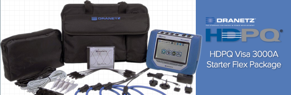 Dranetz HDPQ-XAFLEX3KPKG HDPQ Xplorer 3-Phase Power Quality Analyzer