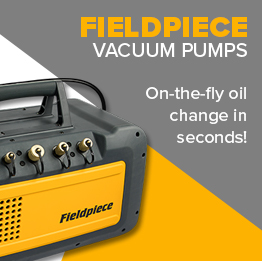 Brand new vacuum pumps from fieldpiece