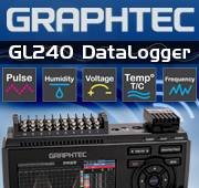 "Graphtec GL240 10 Channels 4.3"" Color Display Data Logger"