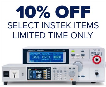 Save 10% on select GW Instek Products