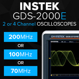 Instek GDS-2000E 2 or 4 Channel Oscilloscopes