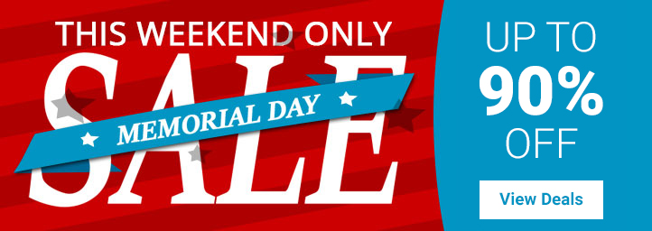 Save up to 90% - This weekend only
