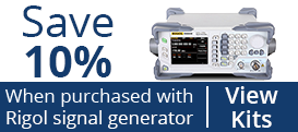 Save 10% When Purchased Along With Rigol Signal Generator