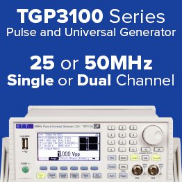 TTi Pulse and Universal Generator with 25 or 50MHz models