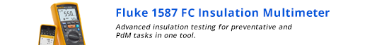 Fluke 1587 FC  Insulation multimeter. -- Advanced insulation testing for preventative and PdM tasks in one tool.