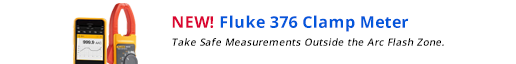 New! Fluke 376 Clamp meter.-- Take safe measurements outside the arc flash zone.