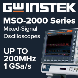 GW Instek MSO-2000 series mixed signal oscilloscopes