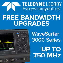 Lecroy WaveSurfer 3000 Series free bandwidth upgrades