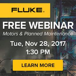 FREE Fluke webinar on planned maintenance this November