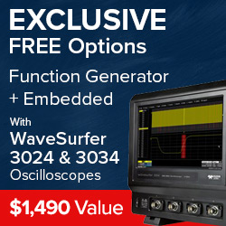 Free function generator and embedded options with Lecroy Wavesurfer 3024 and 3034