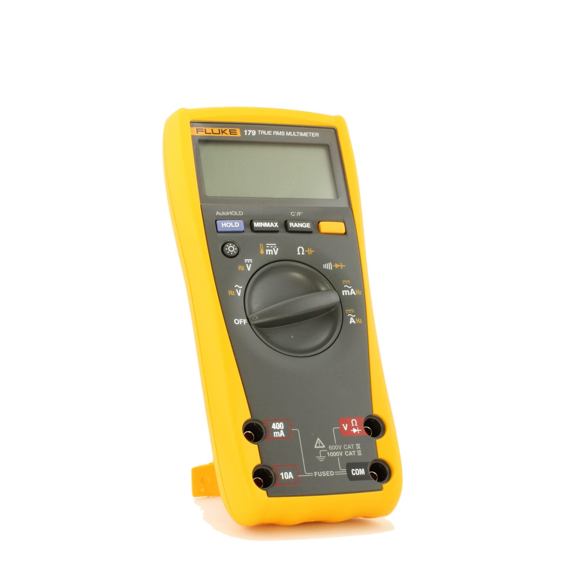 Fluke 179 Digital Multimeter 6000 Count Dmm With Backlight Santronics Ac Dc Voltage Detectors Quickly Test For Energized Circuits Temperature Measurement