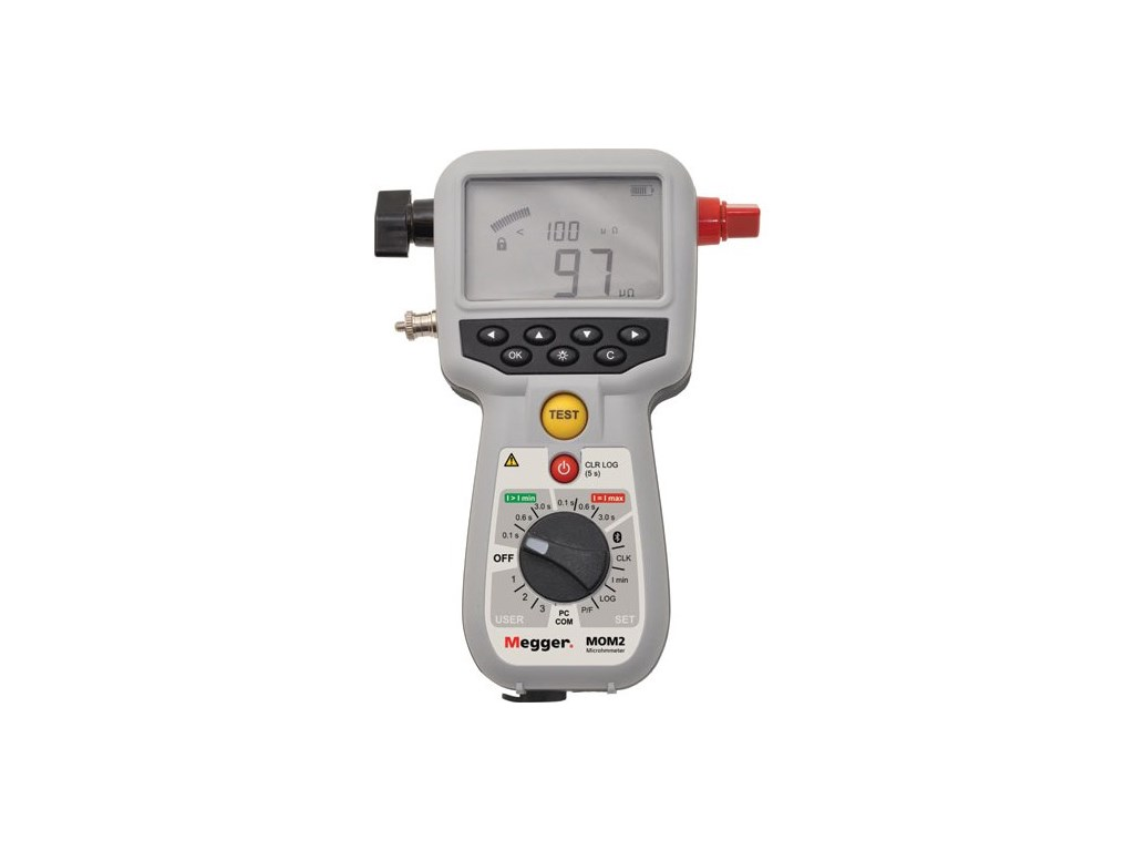 Hand Held Ohmmeter : Megger bd mom hand held a micro ohmmeter