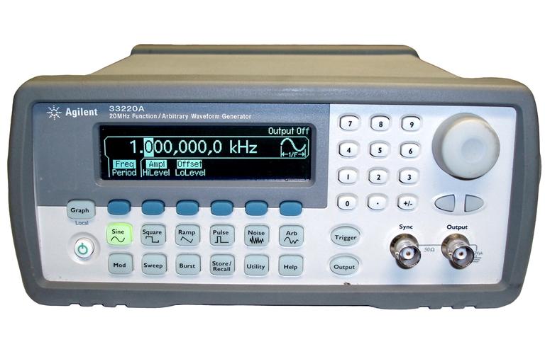 Agilent 33220A Waveform Generator 20 MHz Function/Arbitrary ...