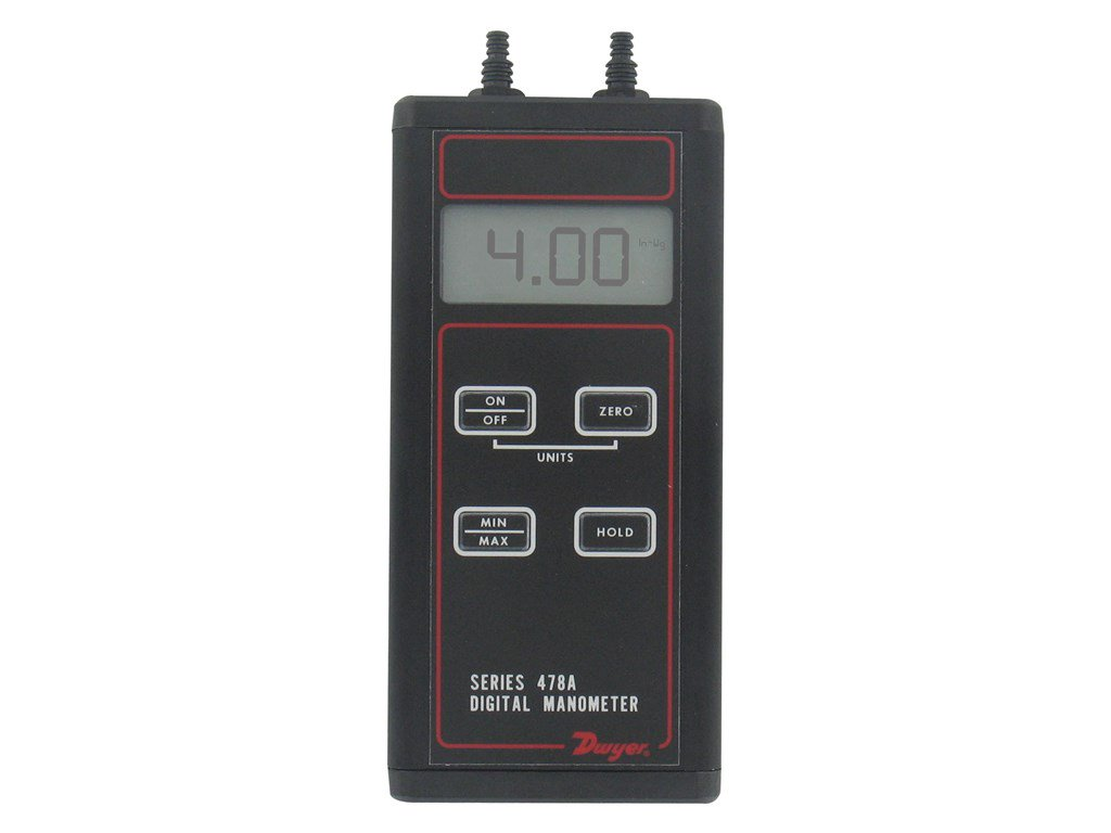 Dwyer 478A-0 Differential Pressure Digital Manometer ...
