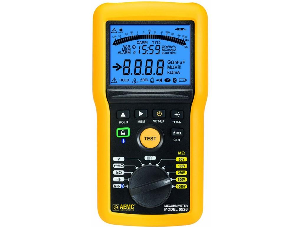 Aemc Megohmmeter Model 6526 Digital W Analog Bargraph Alarm 50v Santronics Ac Dc Voltage Detectors Quickly Test For Energized Circuits Zoom