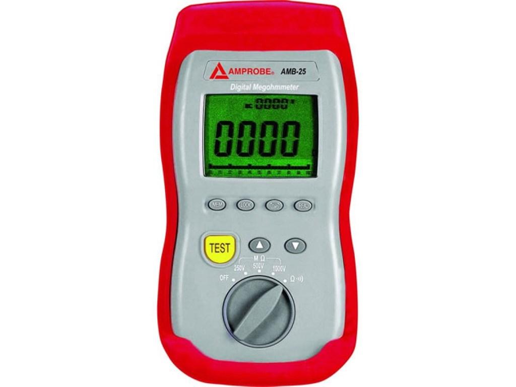 Amprobe Amb 25 Digital Megohmmeter Insulation Resistance Tester Santronics Ac Dc Voltage Detectors Quickly Test For Energized Circuits