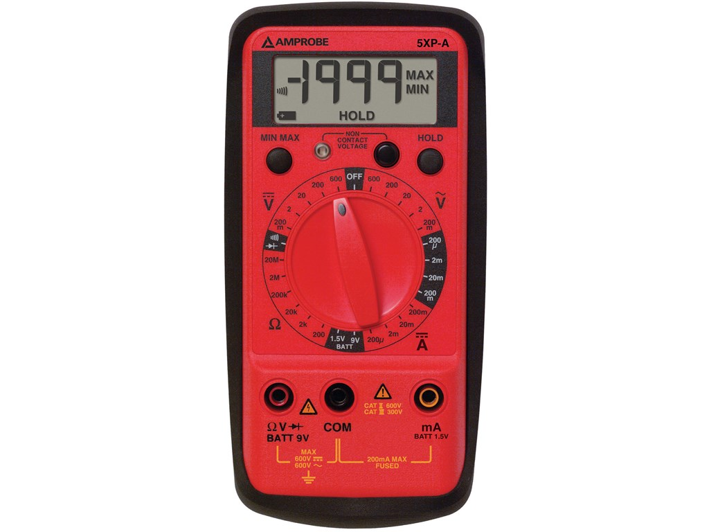 Amprobe 5xp A Digital Multimeter Compact Full Purpose Santronics Ac Dc Voltage Detectors Quickly Test For Energized Circuits