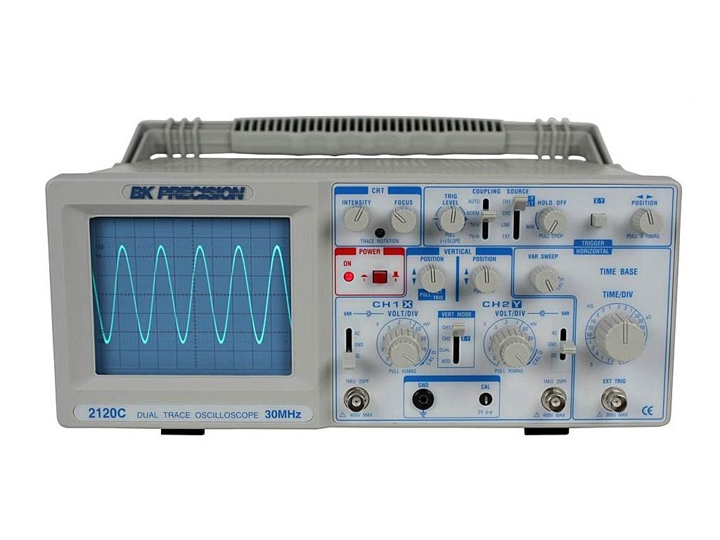 Dual Trace Oscilloscope : Bk c mhz dual trace oscilloscope with probes