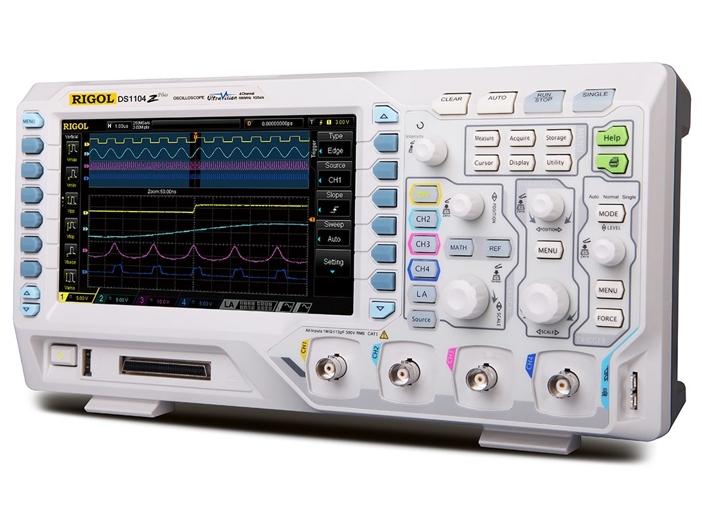 Rigol Ds1104z S Plus 100 Mhz Digital Oscilloscope With 4 Channels Vertical Etching Tank For Diy Pcb Electronicslab Zoom Video