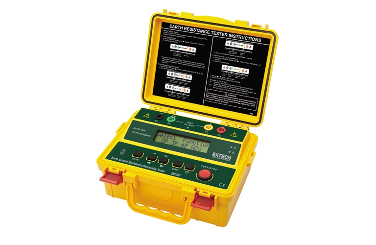 Cable Resistance Tester : Extech grt wire earth ground resistance resistivity
