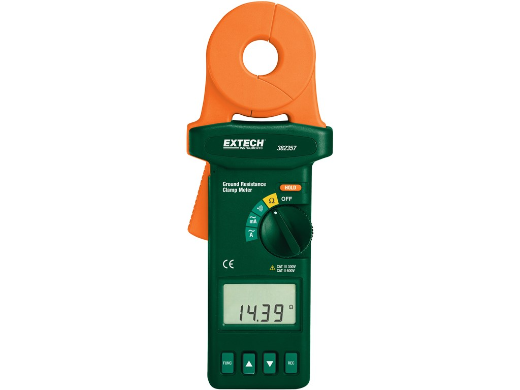 Extech Earth Resistance Tester : Extech nist clamp on ground resistance tester