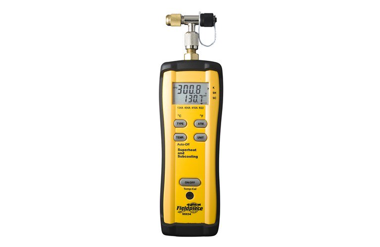 Fieldpiece SSX34 - Superheat and Subcooling Meter, with Pipe Clamp