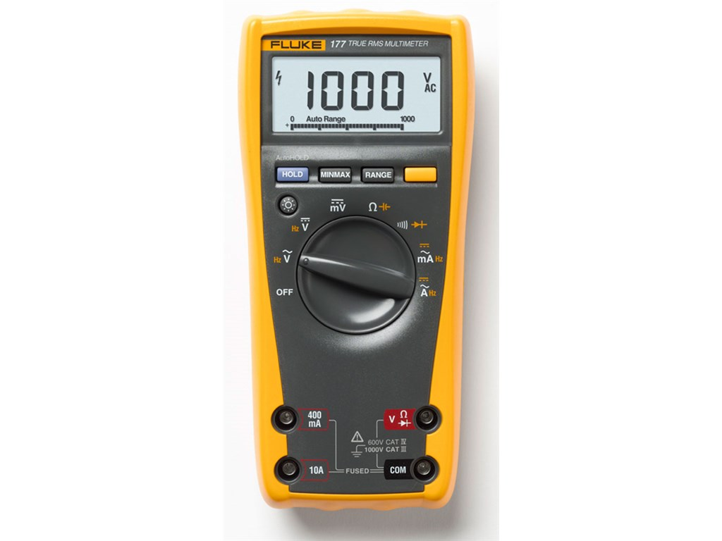 Fluke 177 Digital Multimeter : Fluke digital multimeter count dmm with backlight