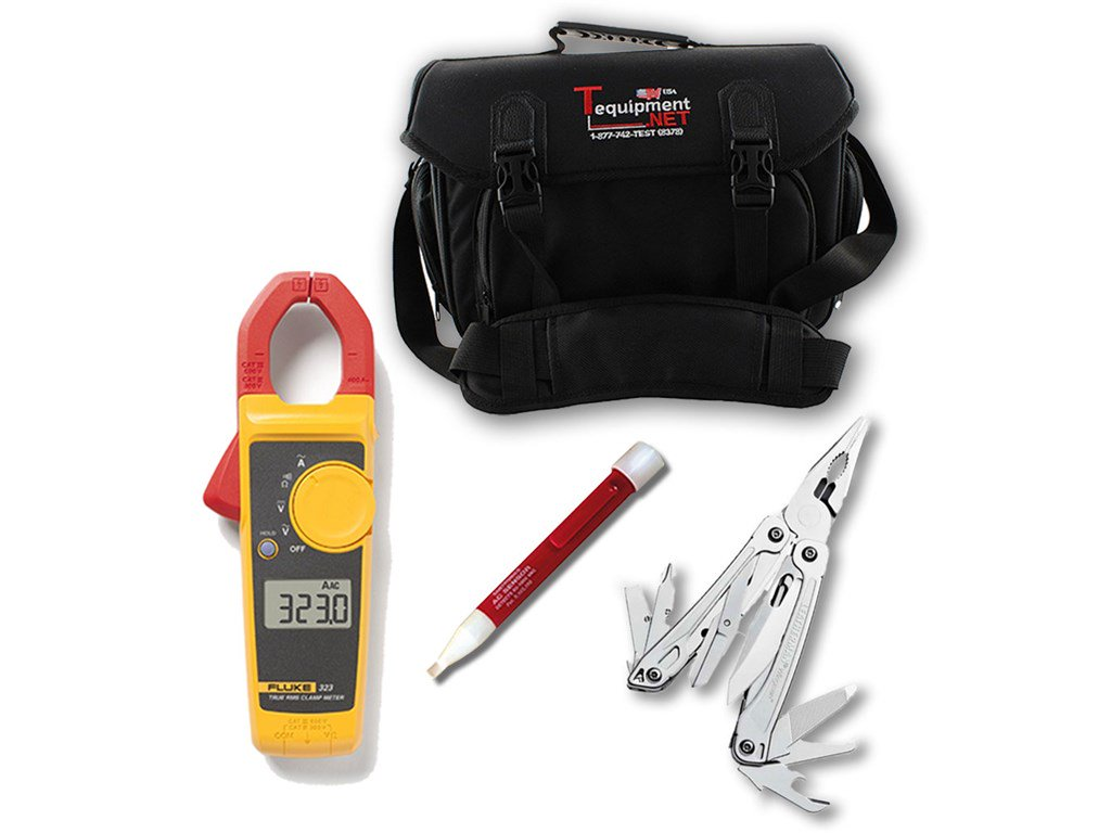 Fluke 323 Kit True Rms Clamp Meters Santronics Ac Dc Voltage Detectors Quickly Test For Energized Circuits