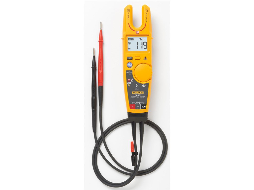 Fluke T6 600 Electrical Tester With Fieldsense Continuity Circuit Alarm Or Voltage And Testers