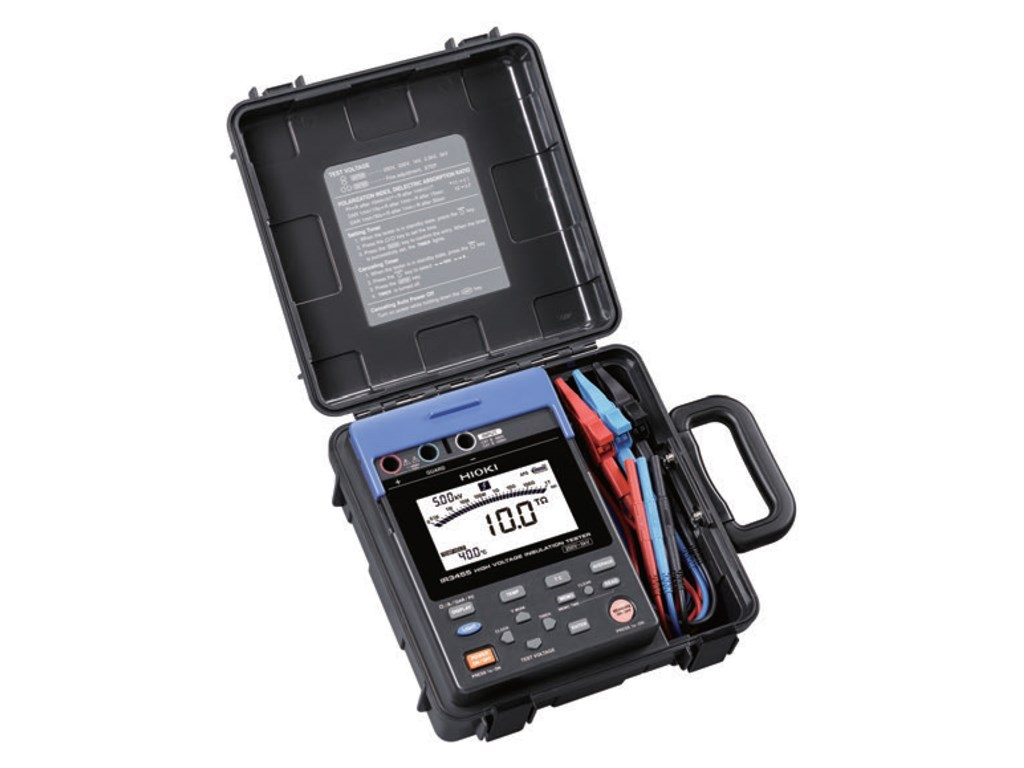 Hioki Ir3455 01 High Voltage Insulation Tester Santronics Ac Dc Detectors Quickly Test For Energized Circuits