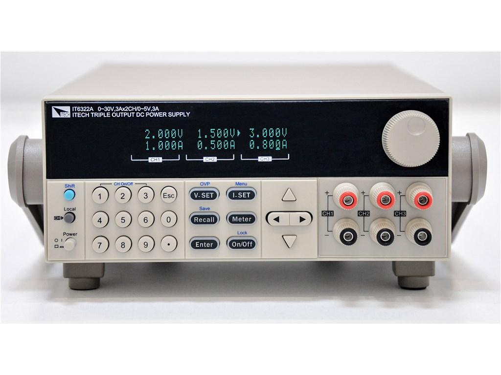 Itech It6333a Triple Output Dc Power Supply 60v 3a 180w2ch 5v Honeywell Smart Vfd Compact It6300a Series
