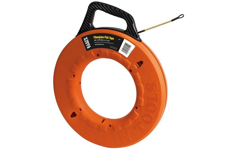 Klein tools 56014 200 39 fiberglass fish tape 61 m for Klein fish tape