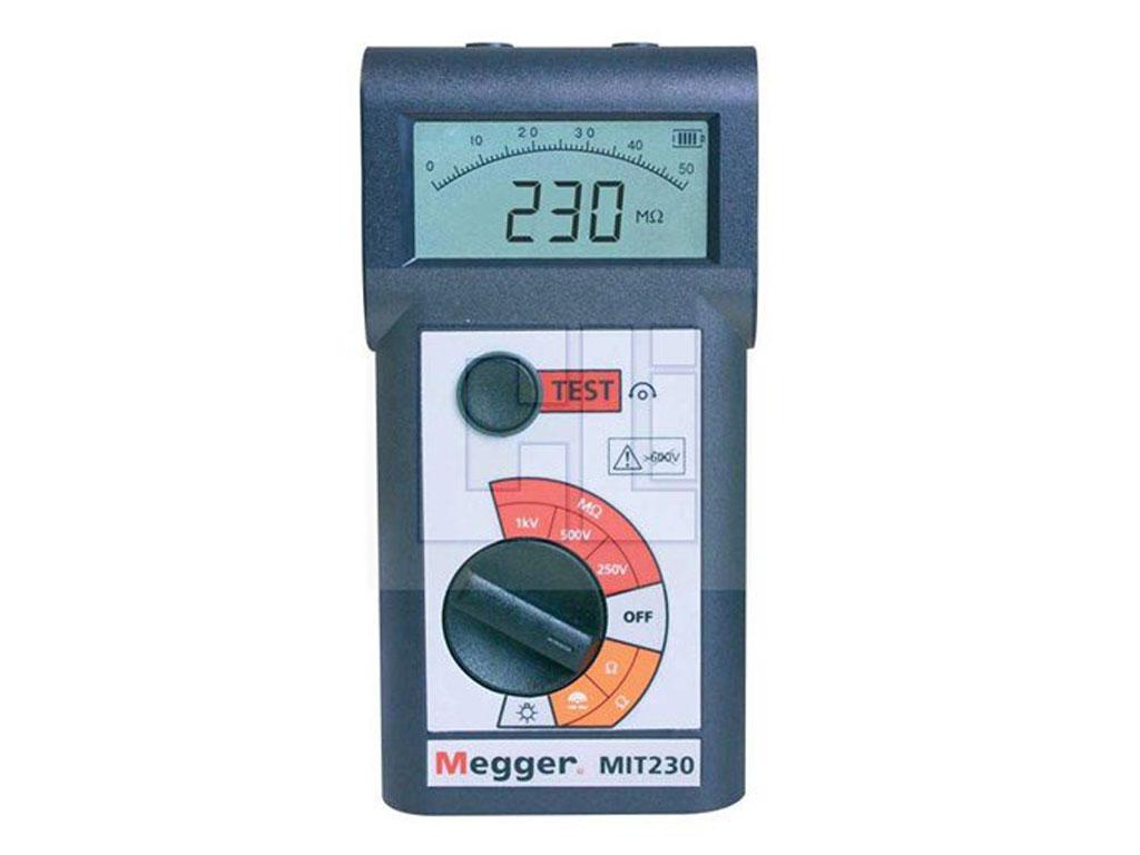 Megger Mit230 En 250v 500v 1000v Analog Digital Hand Held Circuit Diagram Of Continuity Tester Insulation And