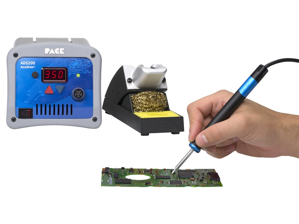 Pace Ads200 Accudrive Production Soldering Station With Instant Set Iron 70 Watt Lead Heat Sponge Flux Electronics Pcb Circuit Zoom Video