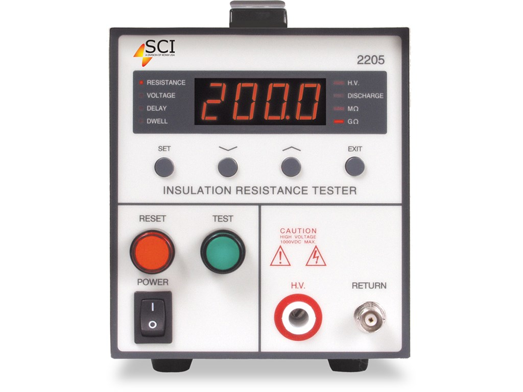 Slaughter 2205 Insulation Resistance Tester Santronics Ac Dc Voltage Detectors Quickly Test For Energized Circuits Front View
