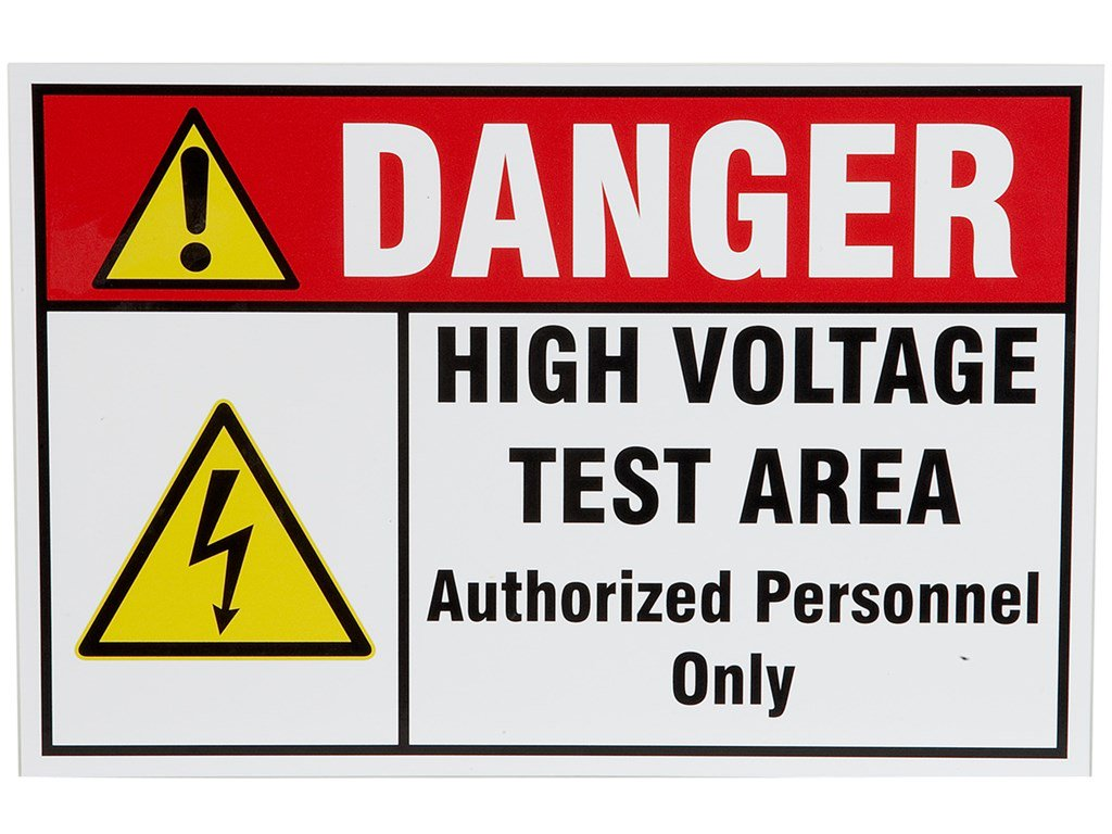 Slaughter 99 10690 01 High Voltage Warning Sign Santronics Ac Dc Detectors Quickly Test For Energized Circuits