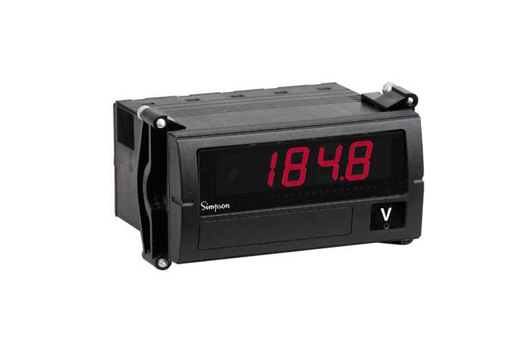 Simpson Digital Panel Meters : Simpson f digital panel meters tequipment