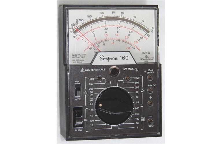 Simpson Analog Meter : Simpson handi vom analog multimeter tequipment