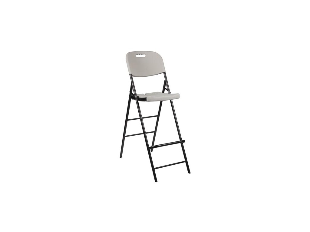 velleman fp140 folding bar stool with back rest tequipment net. Black Bedroom Furniture Sets. Home Design Ideas