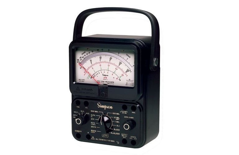 Simpson Analog Meter : Simpson rt extra high accuracy analog multimeter vom