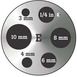 """Fluke 9190-INSE Insert """"E"""" 9190A, metric miscellaneous holes with 0.25 inch hole"""