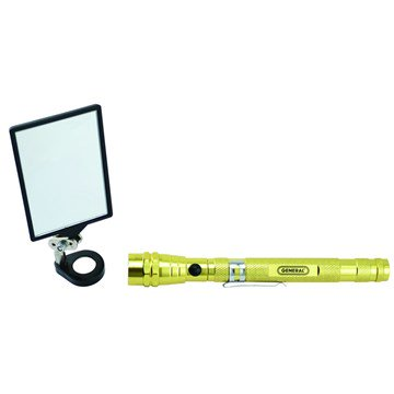 General Tools 91560 Lighted Magnetic Telescoping Pick-Up with Rectangular Mirror