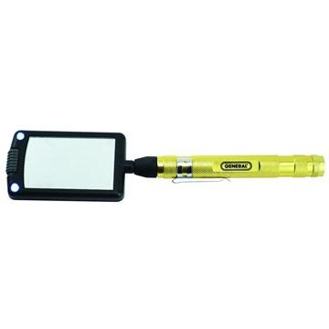 General Tools 92560 Lighted Telescoping Inspection Rectangular Mirror