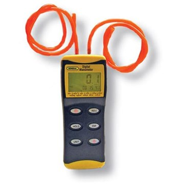 General DM8252RS Digital High Resolution Manometer with Stoppers