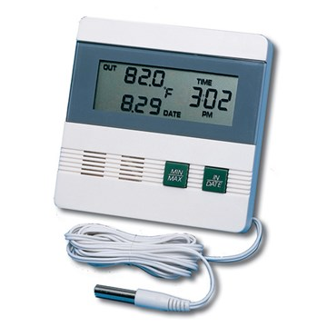 General DTR900 Indoor/Outdoor Digital Recording Thermometer Clock with Date, Time & Memory