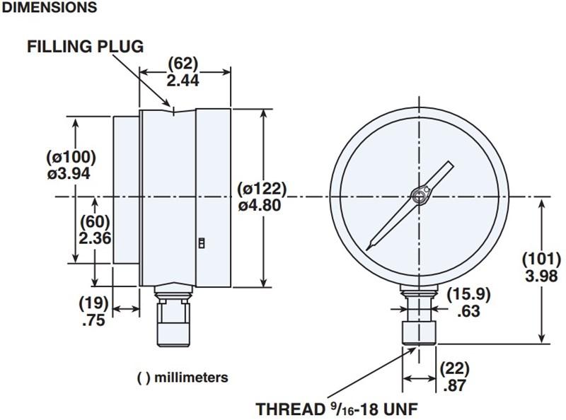 Pressure Gauges on Liquid Filled Pressure Gauge
