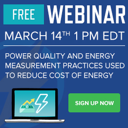 Free Power Quality Webinar - March 14th - Sign up